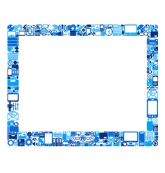 abstract tablet pc vector image