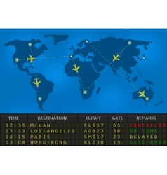 airport departure board vector image