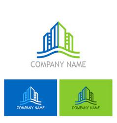 building cityscape company logo vector image vector image