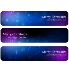 Dark christmas banners vector image vector image