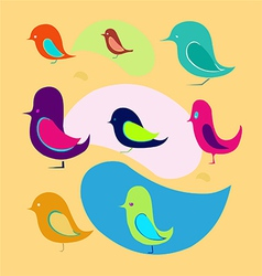 different birds vector image vector image