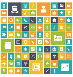 flat design icons for business vector image