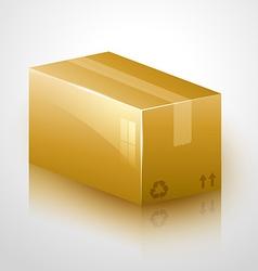 fragile cardboard design vector image