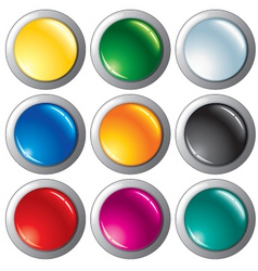 glossy colorful buttons vector image