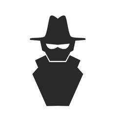 Hacker cartoon symbol vector