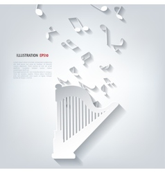 Harp icon Music instruments vector image