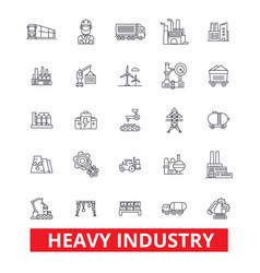 heavy industry factory plant mining production vector image