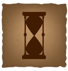 Hourglass sign vintage effect vector