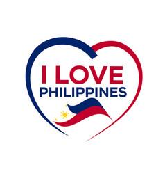i love philippines vector image
