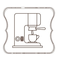 Isolated coffee machine and cup design vector