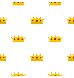 Jewelry crown pattern flat vector