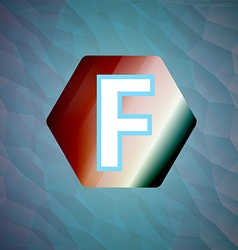 letter f set vector image vector image