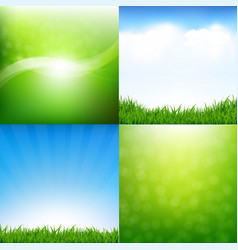 Nature set posters vector