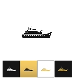 Navy military warship silhouette icon vector image vector image