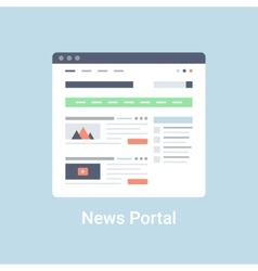 News portal wireframe vector