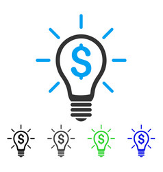 Profitable invention flat icon vector