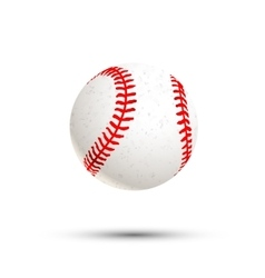 Realistic baseball icon with shadow isolated on vector image
