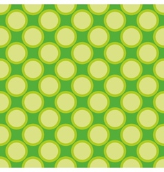 Seamless pattern green polka dots background vector image vector image