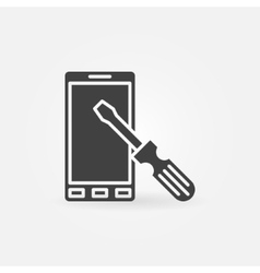 Smart-phone repair icon vector image vector image