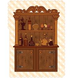 Vintage cupboard vector