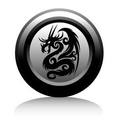 web icon with black dragon vector image vector image