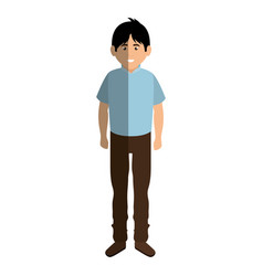 young man avatar character isometric vector image