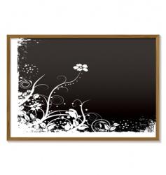 floral blackboard vector image
