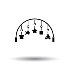 Baby arc with hanged toys icon vector image