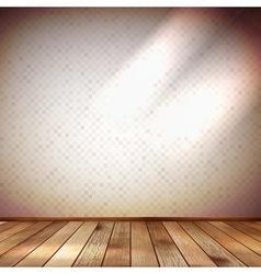 Light wall with a spot illumination EPS 10 vector image