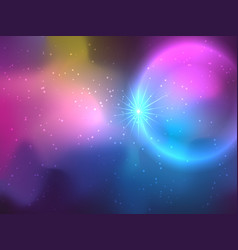 Galaxy background in deep colors vector