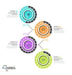Infographic design template with 4 numbered vector
