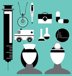 Medical Icon Set in vector image