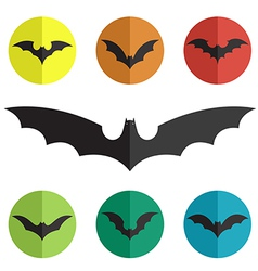 Group of bat vector
