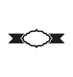 The label icon ribbon symbol flat vector