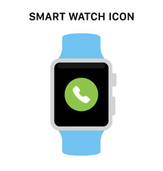 Smart watch with incoming call icon vector
