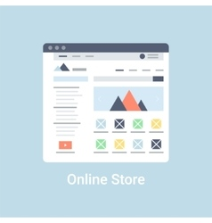 Online store wireframe vector