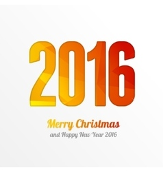Happy new year 2016 colorful greeting card vector
