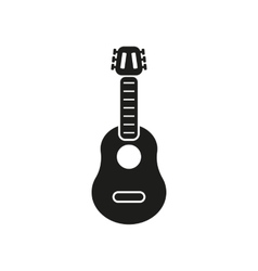 The guitar icon music and guitarist musician vector