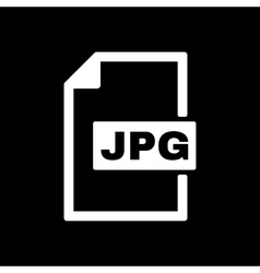 The jpg icon file format symbol flat vector