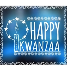 Festival kwanzaa holiday card vector