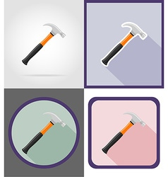 Repair tools flat icons 11 vector