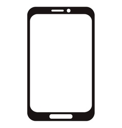 Cellphone with touchscreen icon vector