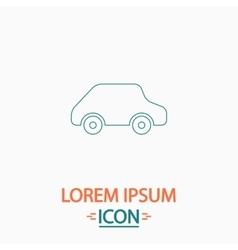 Toy car computer symbol vector