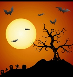 creepy tree vector image