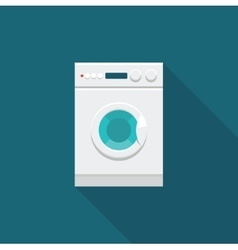 Color icon washing machine vector