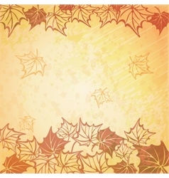 a beautiful autumn vector image