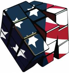 American cube vector image vector image
