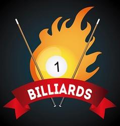 Billiard play design vector image