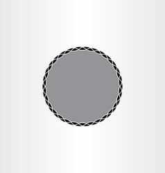 black background label circle frame design vector image vector image
