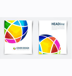 brochure or design template flyer vector image
